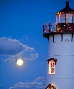 Lighthouse Christmas Paint By Numbers