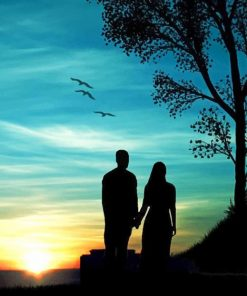 Couple Silhouette paint by numbers