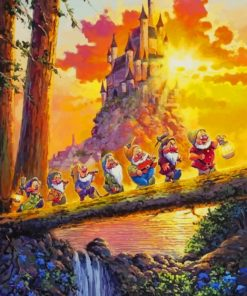 Disney Snow White castle paint by numbers