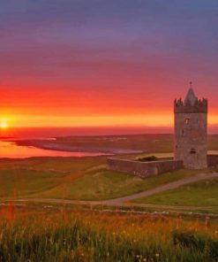 doolin castle sunset adult paint by numbers