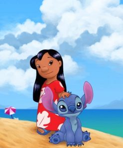 Lilo And Stitch Enjoying Their Summer Paint by numbers