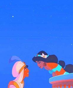 love princess jasmine and aladdin adult paint by numbers