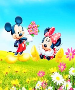 Minnie and Mickey Mouse paint by numbers
