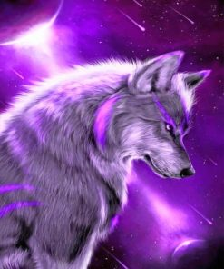Purple Wolf paint By numbers