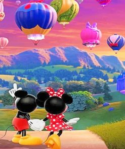Romantic Mickey And Minnie Paint By Numbers