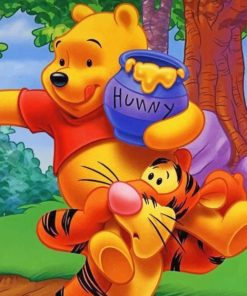 Tigger and Winnie paint by numbers
