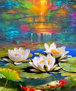 Water Lilies paint by numbers