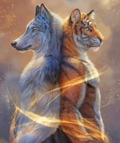 Wolf And Tiger paint By numbers