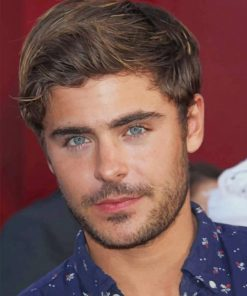 Zac Efron Green Eyes Paint By Numbers