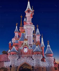Disney Castle paint by numbers