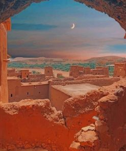 Ouarzazate Morocco paint by numbers