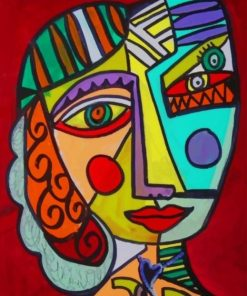Face Portrait Picasso paint by numbers