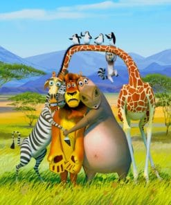 Africa Madagascar Animals Paint By Numbers