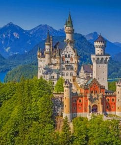 Bavaria Germany Neuschwanstein Castle paint by numbers