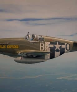 Fighter Airplane P51 Mustang Flight paint by numbers
