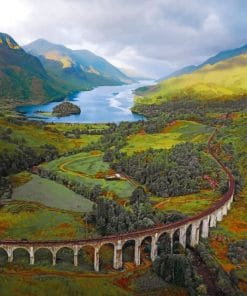 Glenfinnan Viaduct Scotland paint by numbers