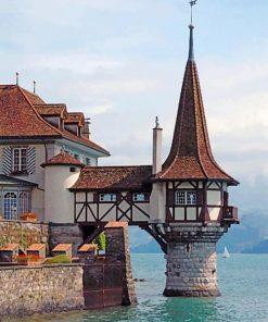 Oberhofen Castle Switzerland paint by numbers