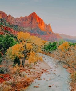 Zion National Park In Utah paint by numbers