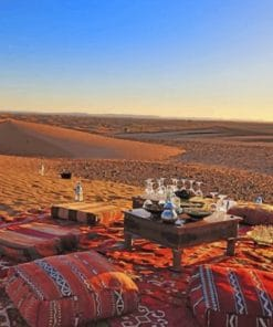 Dinner In The Desert Marrakech paint by numbers