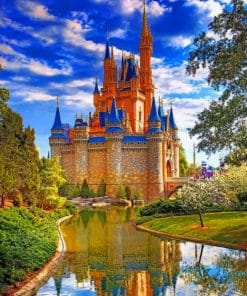 Disney World Cinderella Castle paint by numbers