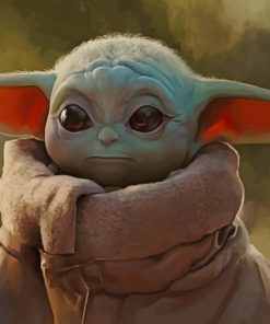 Star Wars Artwork The Mandalorian Baby Yoda paint by numbers