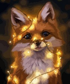 Fox in Light paint by numbers