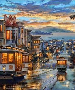 San Francisco Night paint by numbers