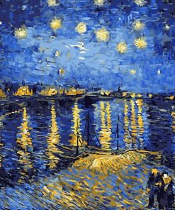 The Starry Night Over The Rhone Paint by numbers
