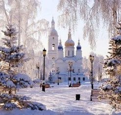 Snowy Palace paint by numbers