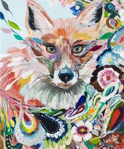 Fox Graffiti paint by numbers