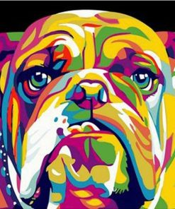 Abstract Bulldog paint By Numbers