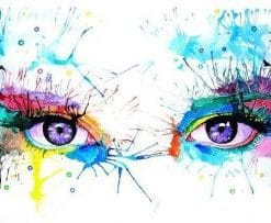 Abstract Eyes paint by numbers