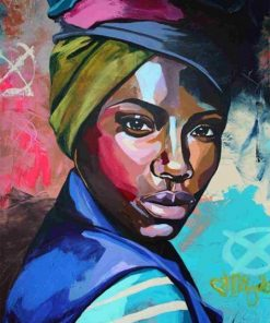 African Woman paint by numbers