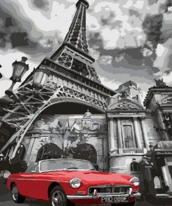 Buy Red Car in Paris - Cities Paint By Number kit or check our new modern collections for adults paint by numbers. Relax and enjoy your canvas painting Paint by numbers
