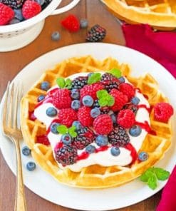 Belgian-waffle-With-Fruits-paint-by-number-319x400