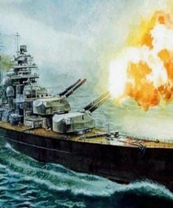 Bismarck On Sea Paint By Numbers