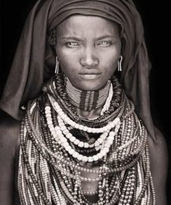 Black and White African Woman