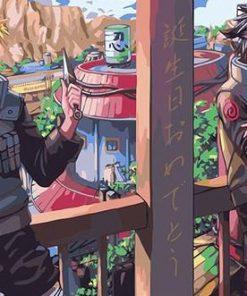 Naruto And Sasuke Jounin paint by numbers