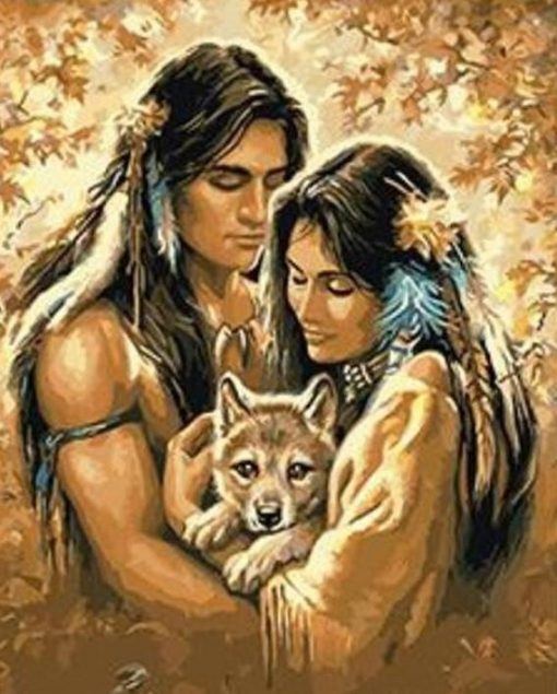 Native American Couple paint by numbers