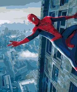 Spiderman Skyline paint by numbers
