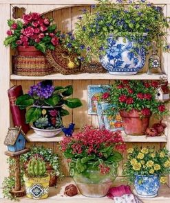 Cupboard Flower Paint By Numbers