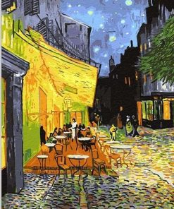 Café Terrace at Night Vincent van Gogh Paint by numbers