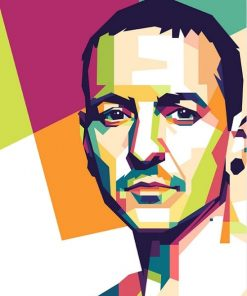 Chester Bennington On Pop Art Paint By Numbers