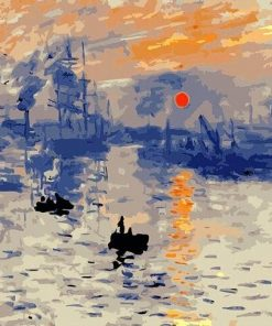 Impression Sunrise Claude Monet Paint by numbers