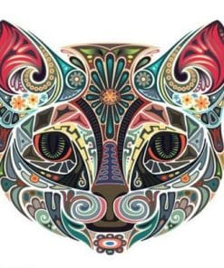 Ornamental Cat Colored paint by numbers