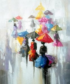 Ladies with umbrella paint by number