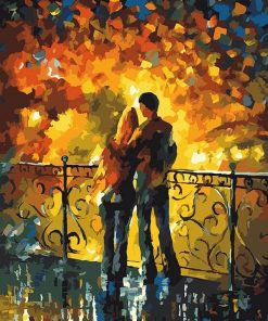 Lovers in Bridge paint By Numbers