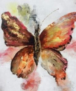 Brown Butterfly paint by numbers