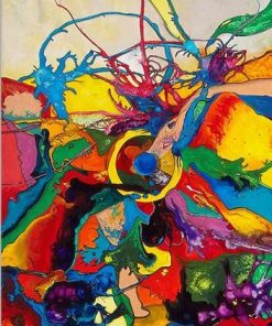 Abstract Colors Mix Up Paint