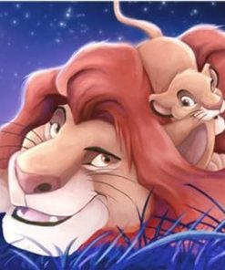 Disney Lion King paint by numbers